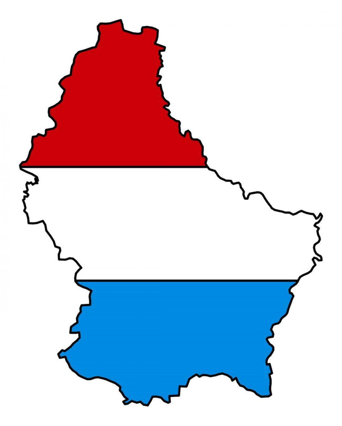 map of Luxembourg flag