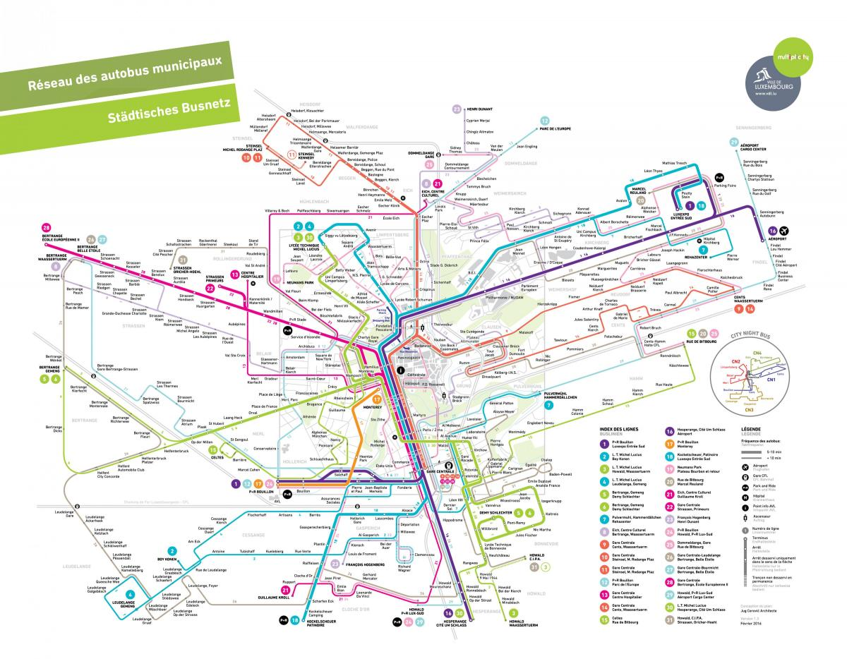 map of Luxembourg public transport